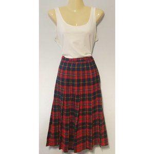 Vtg Pendleton Boyd Tartan red plaid midi skirt